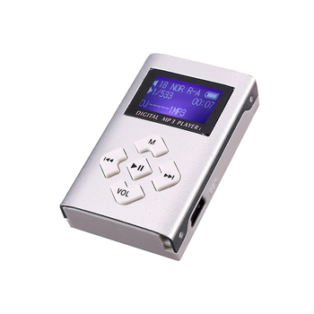 1pc Portable Simple MP3 Player Speaker With LCD Screen Metal Mini Sport Music Media Player With Radio Support TF Card 5