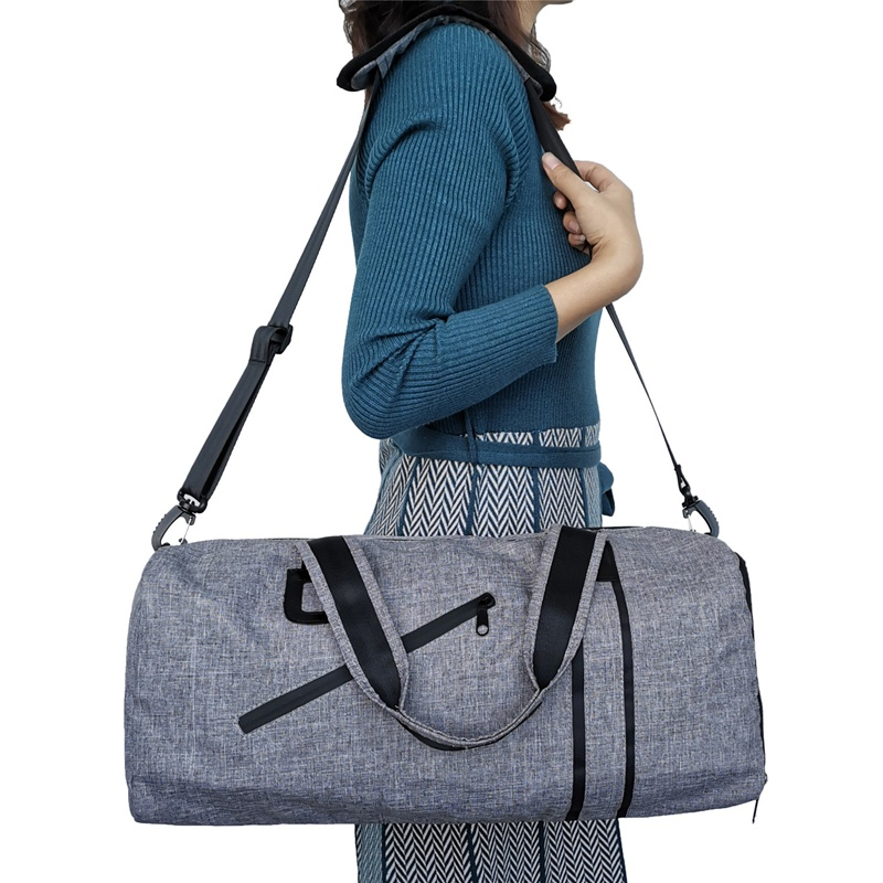 Fitness Sports Duffels Bag Male Luggage Travel Bag Shoulder Diagonal Portable Training Handbag Female Cylinder Yoga Sports Bag