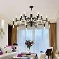 Moderno diseñador de moda negro oro Led techo Art decó lámpara de luz suspendida para cocina sala de estar Loft dormitorio