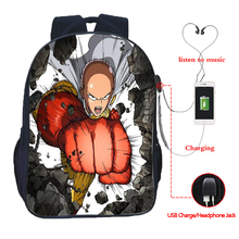 Anime punch multi-function USB charging backpack a school men and women boys girls