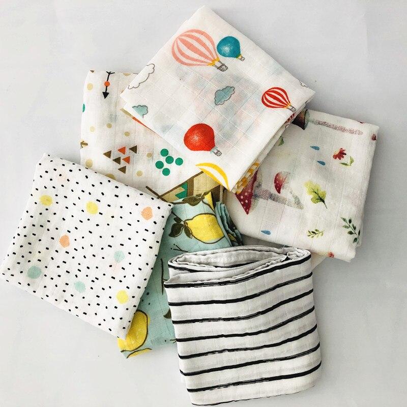 60*60cm Newborn Square Scarf Organic Cotton Baby Blanket Muslin  Feeding Burpy Towel Scraf Bibs Muslin Big Diaper