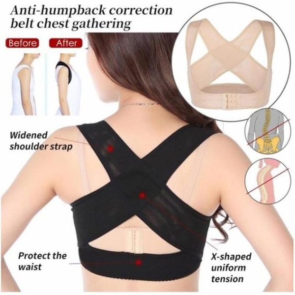 1PC Women Chest Adjustable Posture Corrector Back Support Belt Body Shaper Corset Shoulder Brace For Health Care Face Lift Tool
