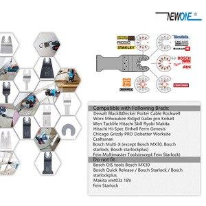 Image 2 - NEWONE набор быстроразъемных пильных лезвий, Осциллирующий набор многофункциональных инструментов Fein Dremel Multi Max, как резак из дерева и металла
