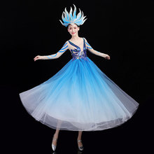 2021 Concert Outfits Flamenco Dress Women Competition Costume Classical Dance Costume American Clothing Ballroom Dancewear