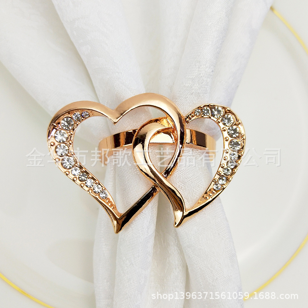 Heart Shape Wedding Can Jin Kou Wedding Hotel With Napkin Rings Soft Loading Tabletop