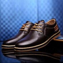 Zapatos casuales de cuero genuino para hombre Zapatos cómodos de negocios de gran tamaño