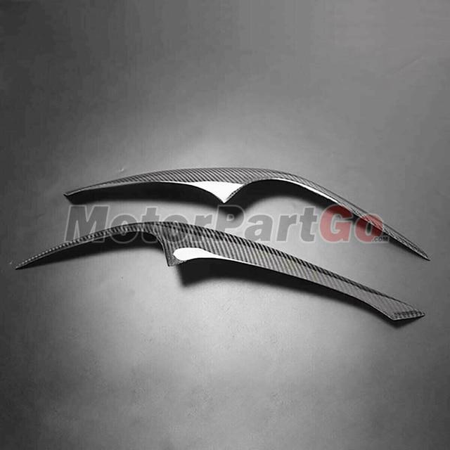 Real Crabon Fiber Head light Eyelid Eyebrow Cover Trim 1pair for Hyundai Coupe Tiburon 2003-2006 T236 6