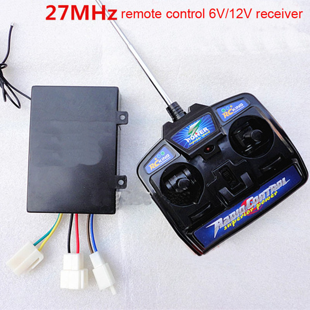 27MHZ 40MHZ 49MHZ Remote Control 6V 12V Receiver Universal Radio Transmitter Controller for Children Car Kid Toy Car Dump Truck