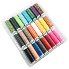 Рукоделие Набор нитей для шитья, вязания, квилтинга, все назначения, полиэстер, для дома, вышивка, 24 цвета, ручная строчка, ассорти, сделай сам, машина