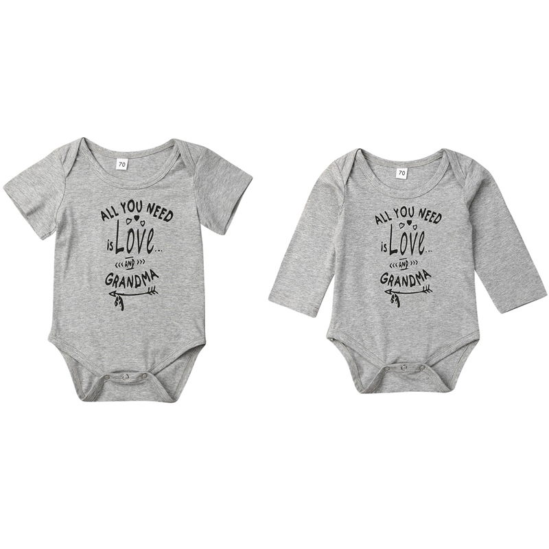Outfit Clothes Boys Girls White Bodysuit Cotton Jumpsuit Baby Letters Romper