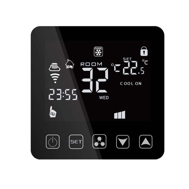 Wifi Central Air Conditioner Thermostat Fan Coil Cooling Heating Temperature Remote Voice Control For Alexa Google Assistant IF