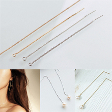 2pcs fashion long earrings chain  handmade diy dangle earring wire charms accessories metal texture jewelry wholesale