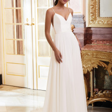 Prom-Dress Party-Gown Sleeveless A-Line Chiffon V-Neck Holiday-Wear Plunging
