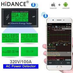 Miernik AC 100A cyfrowy wskaźnik napięcia aplikacja na telefon moc energii woltomierz amperomierz prądu amperomierz Volt wattmeter tester detektor w Mierniki napięcia od Narzędzia na