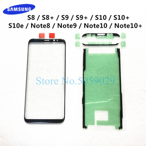 For Samsung Galaxy S8 S9 S10 Plus Note 8 9 10+ Plus S10e LCD display outer touch panel screen glass replacement Front Glass Lens(China)