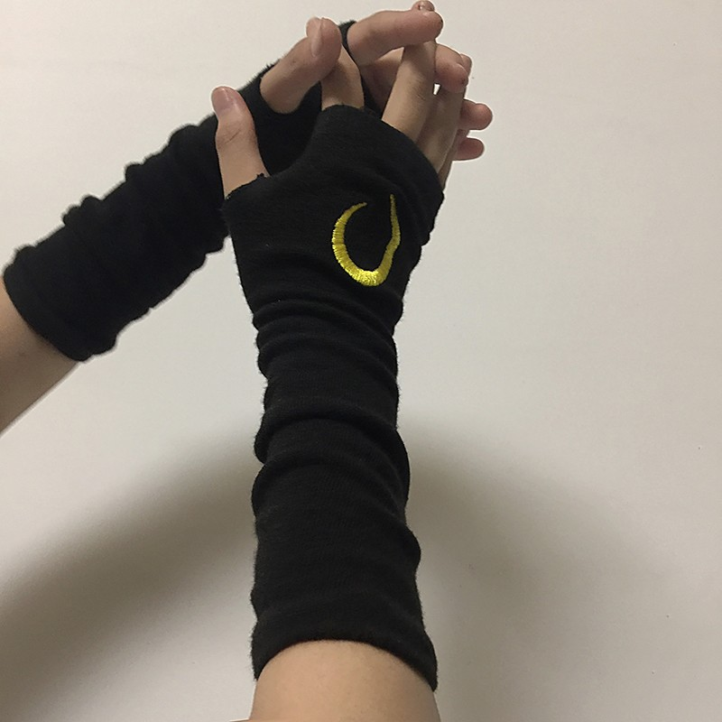 Finger Gloves Long For Arm Wear Solid New Harajuku Embroidered Cuffs Gloves For Men Women Summer Thin Glovers Sun Protection