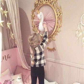 Głowa zwierzęcia łabędź Flamingo ściany wiszące wypchane pluszowe zabawki lalka księżniczka dla dziewczyny dziecko prezent dla dzieci pokoju dziecięcego dekory ścienne tanie i dobre opinie CN (pochodzenie) Pp bawełna 31 cm-50 cm Zwierzęta i Natura Keep away from fire 8 ~ 13 Lat Urodzenia ~ 24 Miesięcy 14 lat