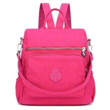 Women School Backpacks Waterproof nylon large capacity ladies backpack Bolsas Mochila Feminina Bag Female Sac A Do цена