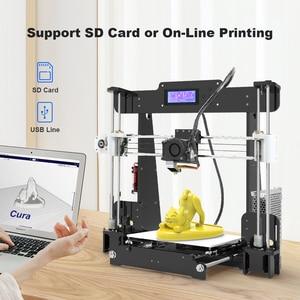 Image 5 - Nouvelle Anet A8 imprimante 3D, Kit dinstallation autonome impressora 3D, avec connexion USB pour carte Micro SD