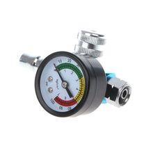 1/4 BSP HVLP Spray Gun Pressure Gauge Air Regulator Valve Diaphragm Control Automobiles Tire Monitor System