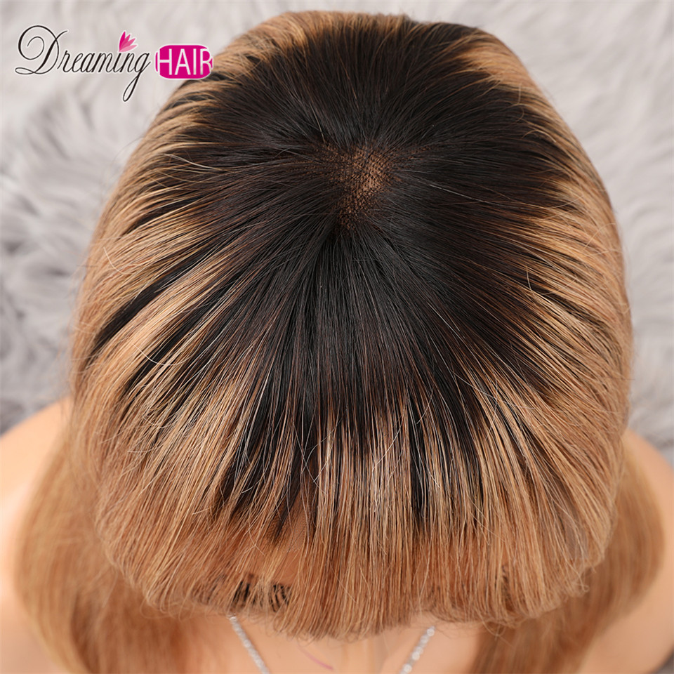 H9e22cd1e597341dcb2caf5c20310ea50o 613 Short Cut 13X4 Bob Lace Front Human Hair Wig with Bangs Honey Blonde Color Transparent Lace Front Wigs For White Woman
