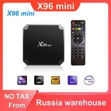 X96 mini أندرويد 7.1 صندوق التلفزيون 2GB 16GB Amlogic S905W رباعية النواة 2.4GHz واي فاي مشغل الوسائط 1GB 8GB X96mini فك التشفير مع كابل الأشعة تحت الحمراء