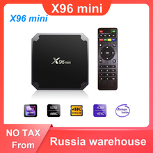 X96 mini Android 7,1 TV BOX 2GB 16GB Amlogic S905W Quad Core 2,4 GHz WiFi Media Player 1GB 8GB X96mini Set top Box mit IR Kabel