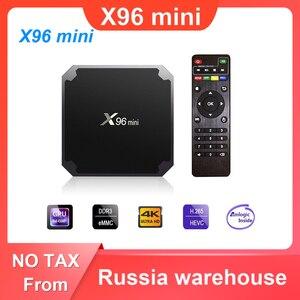 Image 1 - X96 mini Android 7.1 TV BOX 2GB 16GB Amlogic S905W Quad Core 2.4GHz WiFi Media Player 1GB 8GB X96mini Set top Box with IR Cable