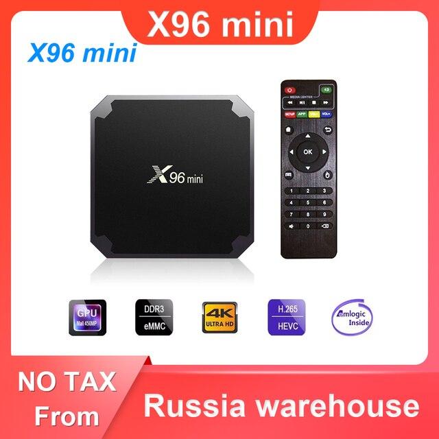 X96 mini Android 7.1 TV BOX 2GB 16GB Amlogic S905W Quad Core 2.4GHz WiFi Media Player 1GB 8GB X96mini Set top Box with IR Cable