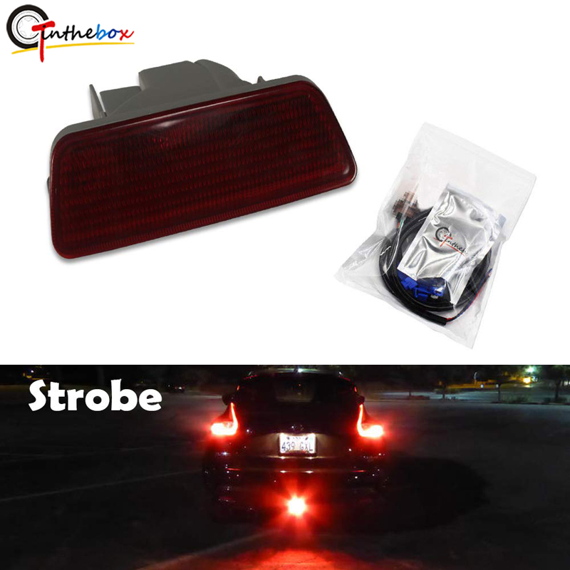 Gtinthebox Style Brilliant Red LED Rear Fog Light with Strobe Brake Lamp Kit for 2011 2014 Nissan Juke  2014 2016 Nissan Rogue|Signal Lamp|Automobiles & Motorcycles - title=