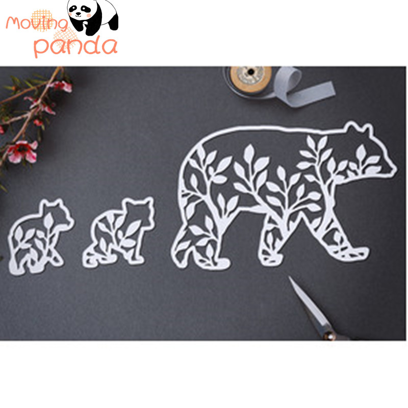 Hollow Polar bear Metal Cutting Dies Scrapbooking Album DIY Card Craft Embossing Background Die Cuts New 2019 Arrival(China)