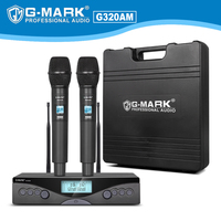 Wireless Microphone G MARK G320AM UHF 2 Handheld microphone Frequency Adjustable for party singing stage host karaoke