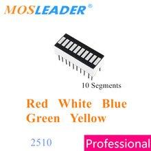 Mosleader 100pcs 2510 10 segmentos display digital dip20 vermelho branco azul verde amarelo barógrafo barra led gráfico 10 segmentos