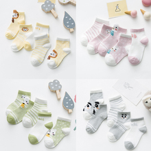 5Pairs/lot Infant Baby Socks Mesh Thin for Girls Cotton Newborn Boy Toddler Clothes Winter