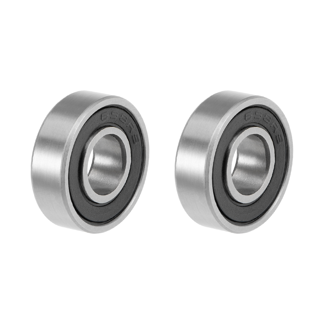 uxcell 698-2RS Deep Groove Ball Bearings Z2 8x19x6mm Double Sealed Carbon Steel 2pcs image