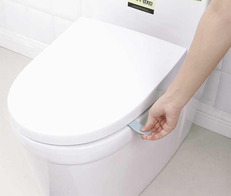 2PC 便座カバーこだわりリフターハンドル触れない衛生防止 Dirtyhand リフティングステッカーツール浴室アクセサリー