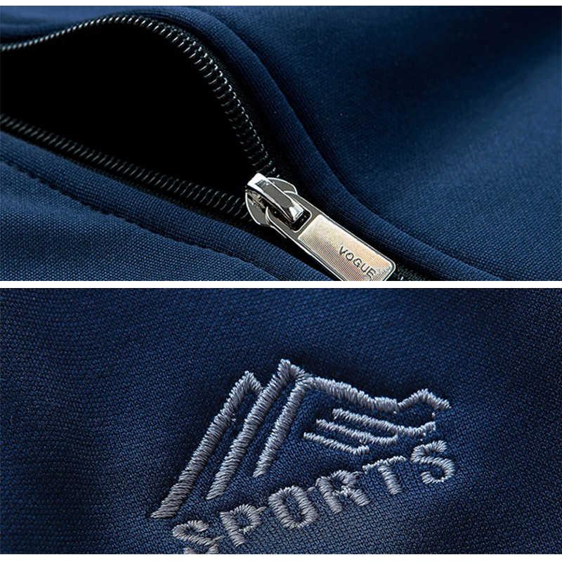 Conjunto de ropa deportiva de marca para hombre, chándal deportivo para hombre, ropa deportiva de dos piezas, chaqueta de manga larga + pantalón, chándal informal para hombre