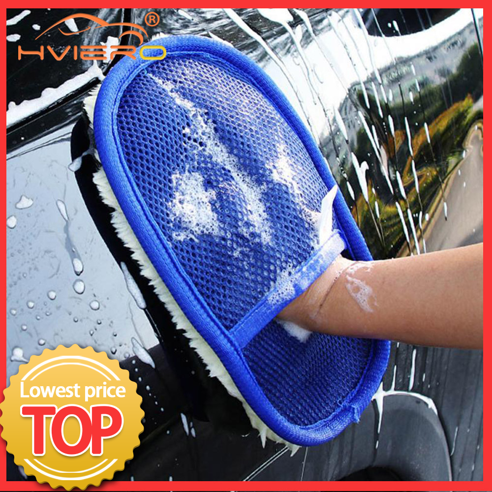 Car Styling Soft Wool Car Wash Auto Cleaning Glove Car Motor Motorcycle Brush Washer Car Care Products Cleaning Tool Brushes 1
