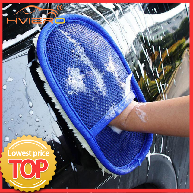 Car Styling Soft Wool Car Wash Auto Cleaning Glove Car Motor Motorcycle Brush Washer Car Care Products Cleaning Tool Brushes