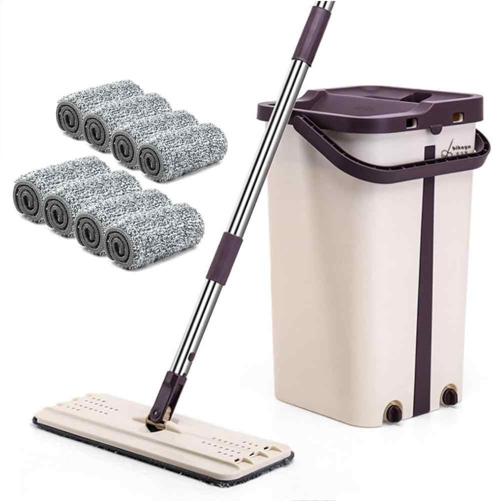 Ev havuzu uygun çamaşır ücretsiz geri çekilebilir düz paspas mikrofiber paspas kova seti çok fonksiyonlu temizleme aracı tembel