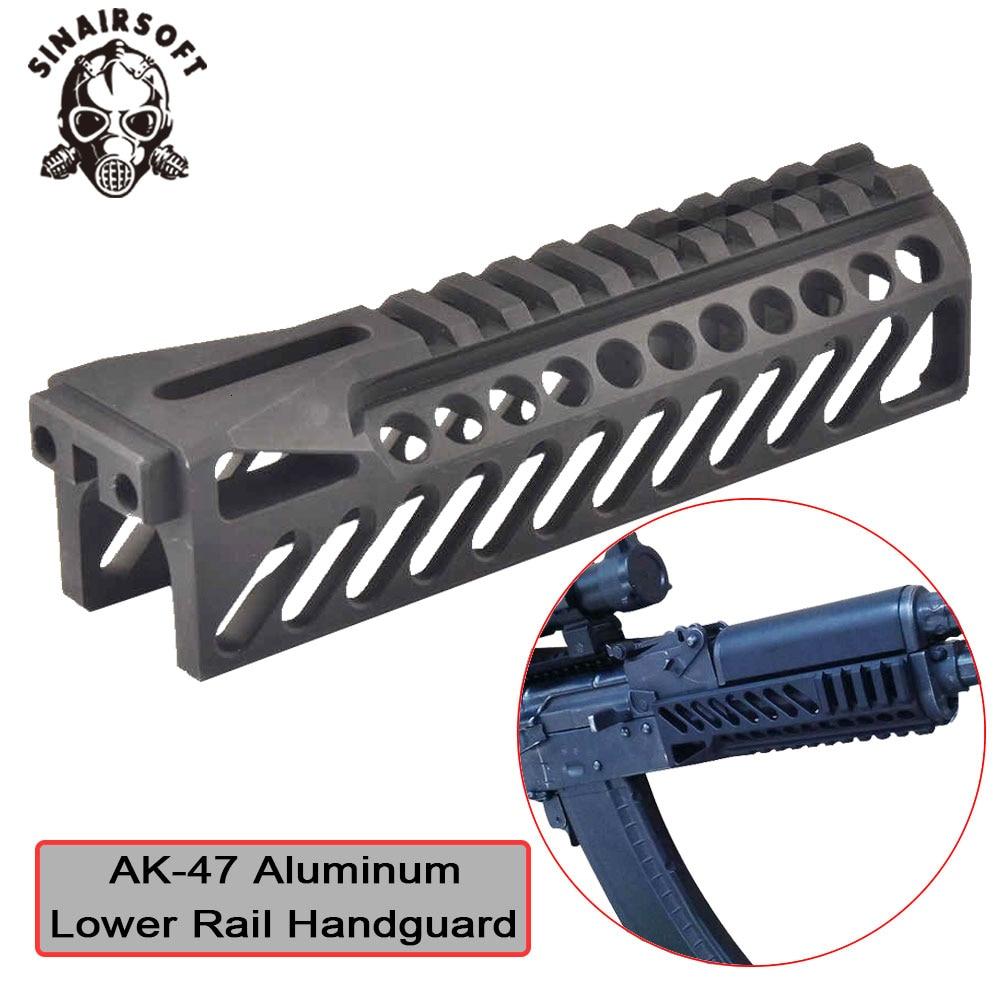 Hot Tactical AK47 Aluminum Multi-function B-10 Picatinny Lower Rail Handguard For AEG Hunting Paintball Shooting Accessories