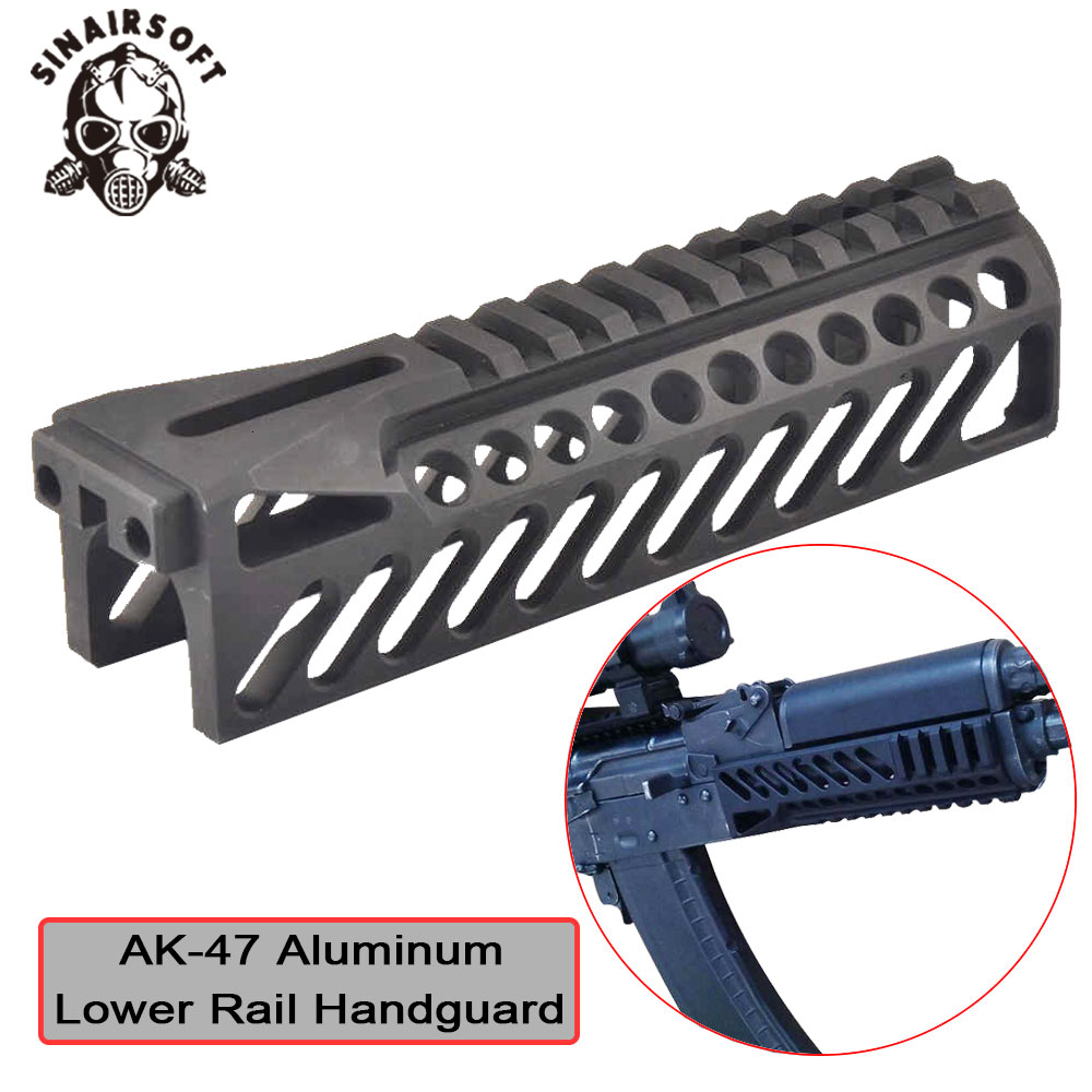 Hot Tactical AK47 Aluminum Multi-function B10 Picatinny Lower Rail Handguard For AEG Hunting Paintball Shooting Accessories