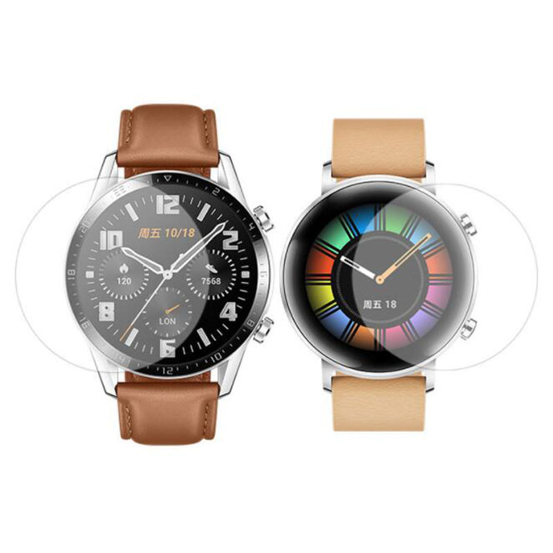 Soft TPU Clear Protective Film For Huawei Smart Watch GT 2 42MM 46MM GT2 Sport Smartwatch Full Screen Protector Cover (Not Glass