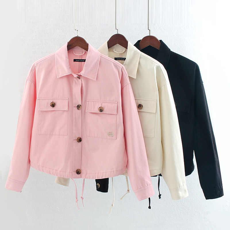 Fandy lokars chaquetas sólidas mujer moda bolsillos abrigos mujeres elegantes botones de manga larga Chaquetas Mujer HA