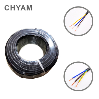 20 AWG 0.5MM^2 RVV Cores Pins Copper Wire Conductor Electric RVV Cable Black 3M