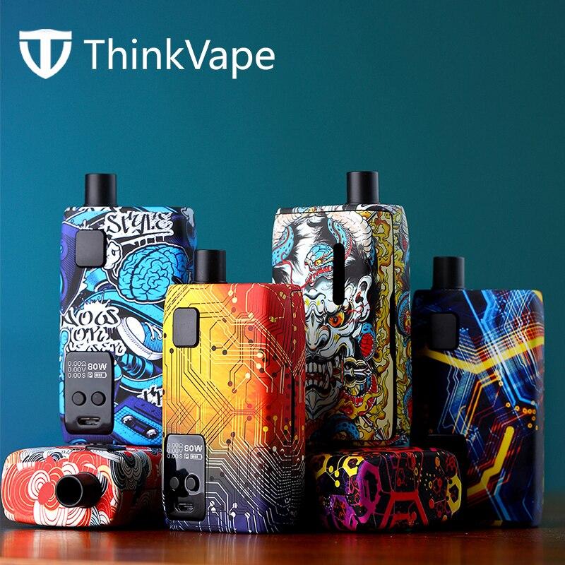 Thinkvape Thor AIO 80w Vape Kit Powered By Single 18650 Battery 3ml Capacity Puff Monitoring System Electronic Cigarette Vaping