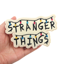 K1081 Stranger Things tv Sticker for Clothing Applications Patches on Clothes Iron Embroidered Patch for Backpack Handbag Badge zotoone anatomical heart stripe badge embroidery patches for backpack stickers on clothes clothing iron on tactical patches diy