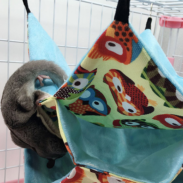 Triple Layers Pet Cage Hammock Guinea Pig Bedding Cage for Small Parrots Squirrel Hamster DTT88 5
