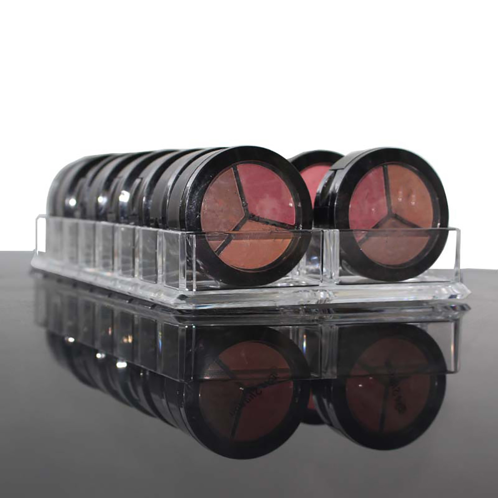 Acrylic Eyeshadow Blusher Makeup Organizer 16 Space Cosmetic Storage Case Holder  Storage Case  Transparent  Makeup Holder
