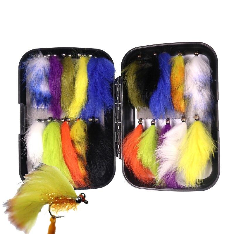 20 pcs caixa 4 streamers trutas arco iris isca de pesca fly box 05